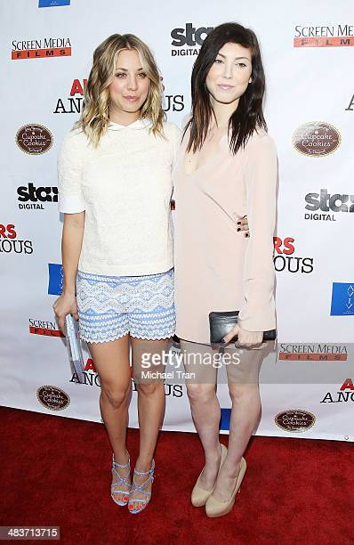 Kaley CuocoSweeting and Briana Cuoco arrive at the Los Angeles premiere of Authors Anonymous held at The Crest on April 9 2014 in Los Angeles...