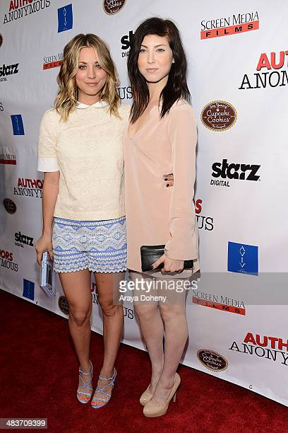 Kaley CuocoSweeting and sister Briana Cuoco attend the premiere of Screen Media Films' 'Authors Anonymous' at Crest Theatre on April 9 2014 in...