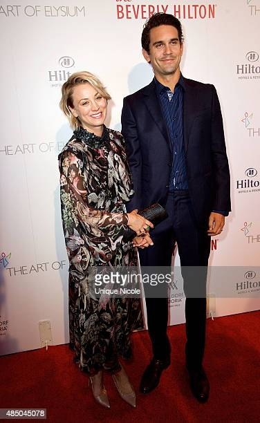 Kaley Cuoco-Sweeting with husband Ryan Sweeting attend The Beverly Hilton celebrates 60 years with a diamond anniversary party at The Beverly Hilton...