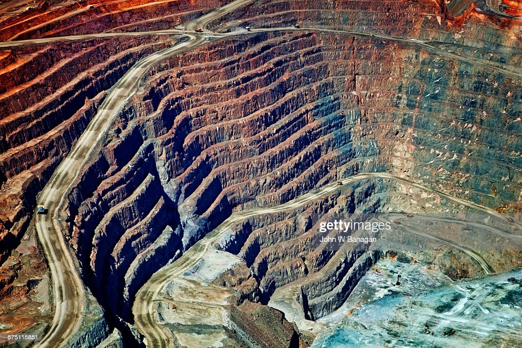 Kalgoorlie Super Pit Gold Mine Western Australia Stock Photo