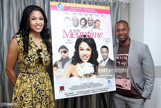 Kali Hawk and Darrin Dewitt Henson attend the 2013 UP Meet Greet with Darrin Dewitt Henson during the ABFF at Ritz Carlton South Beach on June 21...
