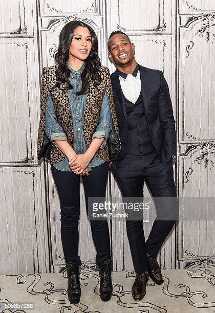 Kali Hawk and Marlon Wayans attend AOL Build to discuss their movie Fifty Shades of Black at AOL Studios on January 20 2016 in New York City