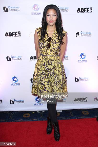 Kali Hawk attends the 2013 UP Faith Family Screenplay Competition at Ritz Carlton South Beach on June 21 2013 in Miami Beach Florida