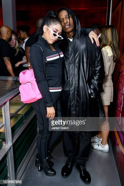 Kali Uchis and A$AP Rocky attend the Prada Linea Rossa event at Prada Broadway NY on Sept 8 2018