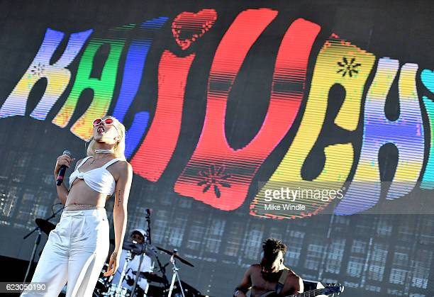 Kali Uchis performs on Camp Stage during day two of Tyler the Creator's 5th Annual Camp Flog Gnaw Carnival at Exposition Park on November 13 2016 in...