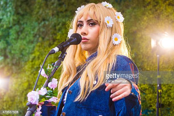 Kali Uchis performs on the outside stage at Wagner Hall on May 15 2015 in Brighton United Kingdom