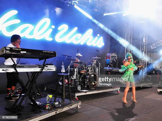Kali Uchis performs onstage at That Tent during day 3 of the 2018 Bonnaroo Arts And Music Festival on June 9 2018 in Manchester Tennessee