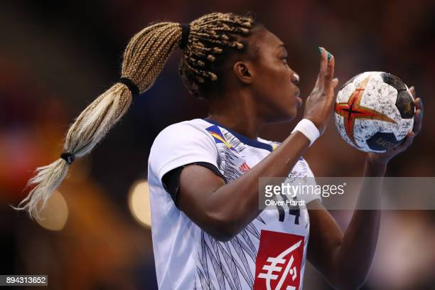 Kalidiatou Niakate of France in action during the IHF Women's Handball World Championship final match between France and Norway at Barclaycard Arena...