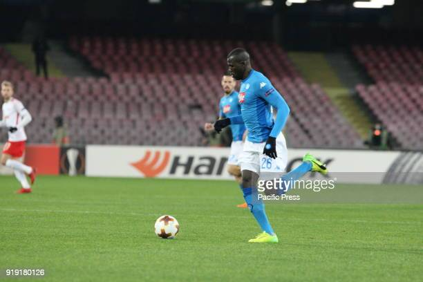 Kalidou Koulibaly during soccer match between SSC Napoli and RB Leipzig at Stadio San Paolo in Napoli Final result Napoli vs RB Leipzig 13