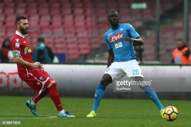 Kalidou Koulibaly during the Italian Serie A football SSC Napoli v Spal at S Paolo Stadium in Naples on February 18 2018