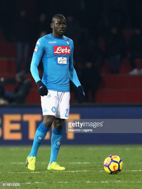 Kalidou Koulibaly of Napoli during the serie A match between Benevento Calcio and SSC Napoli at Stadio Ciro Vigorito on February 4 2018 in Benevento...