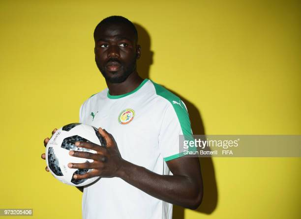 Kalidou Koulibaly of Senegal poses for a portrait during the official FIFA World Cup 2018 portrait session at the team hotel on June 13, 2018 in...