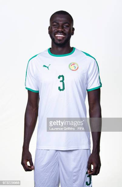 Kalidou Koulibaly of Senegal poses for a portrait during the official FIFA World Cup 2018 portrait session at the Team Hotel on June 13 2018 in...