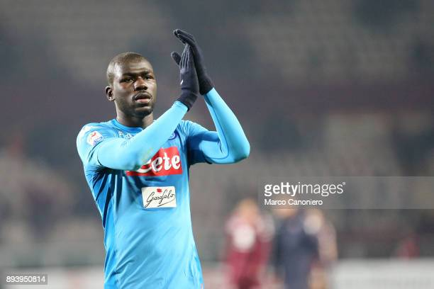 Kalidou Koulibaly of Ssc Napoli celebrates victory after the Serie A the Serie A football match between Torino Fc and Ssc Napoli Ssc Napoli wins 31...