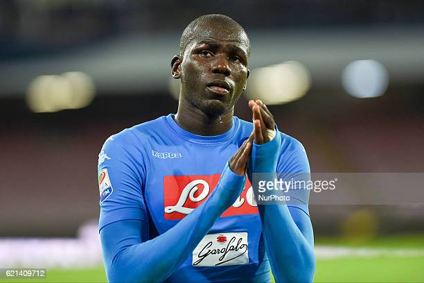 Kalidou Koulibaly of SSC Napoli during the Serie A Tim match between SSC Napoli and SS Lazio at Stadio San Paolo Naples Italy on 5 November 2016