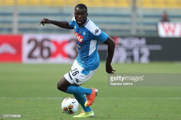 Kalidou Koulibaly of SSC Napoli in action during the Serie A match between Parma Calcio and SSC Napoli at Stadio Ennio Tardini on July 22, 2020 in...