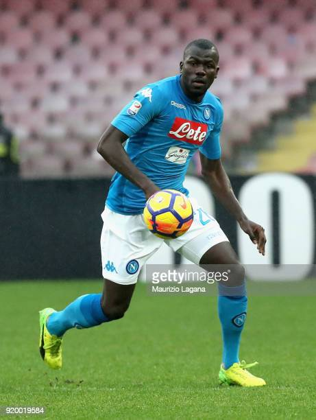 Kalidpu Koulibaly of Napoli during the serie A match between SSC Napoli and Spal at Stadio San Paolo on February 18 2018 in Naples Italy