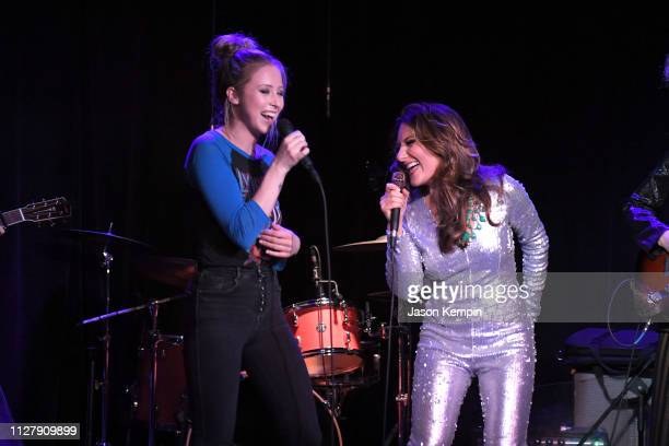 Kalie Shorr and Dani Rose of the band Honey County perform at The Local on February 06 2019 in Nashville Tennessee