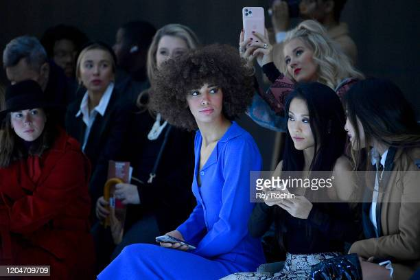Kaliegh Garris attends New York Fashion Week The Shows Day 2 at Spring Studios on February 07 2020 in New York City