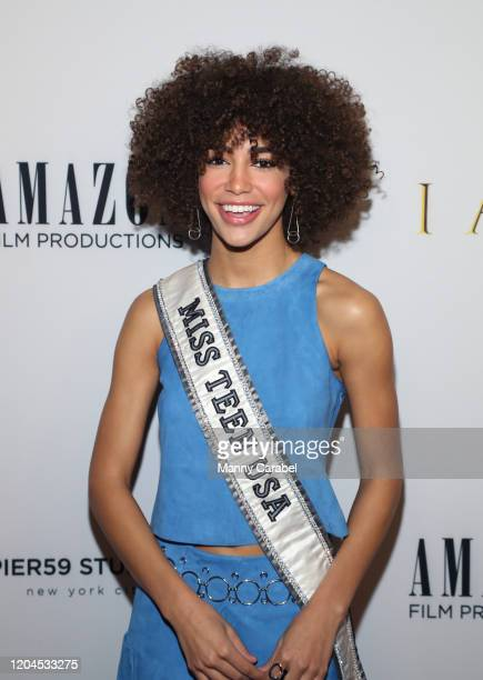 """Kaliegh Garris attends the New York Premiere of """"I Am You"""" at Pier 59 Studios on February 06 2020 in New York City"""