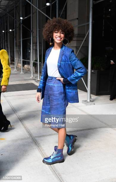 Kaliegh Garris is seen in soho on February 28 2020 in New York City