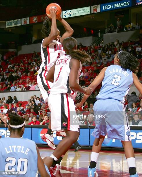 Kalika France climbs for a shot. During a game at Comcast Center in College Park, MAryland on January 9, 2005.