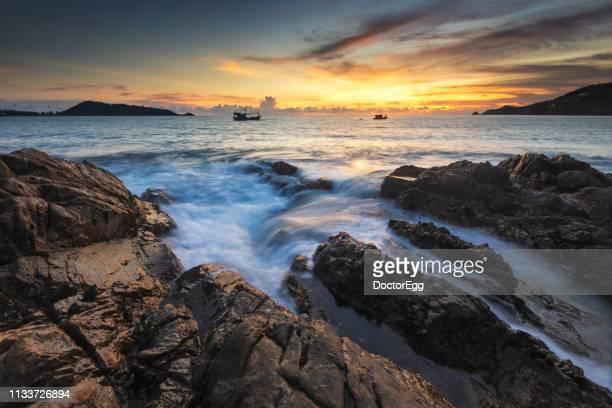 Kalim Beach at Sunset, Patong, Phuket, Thailand