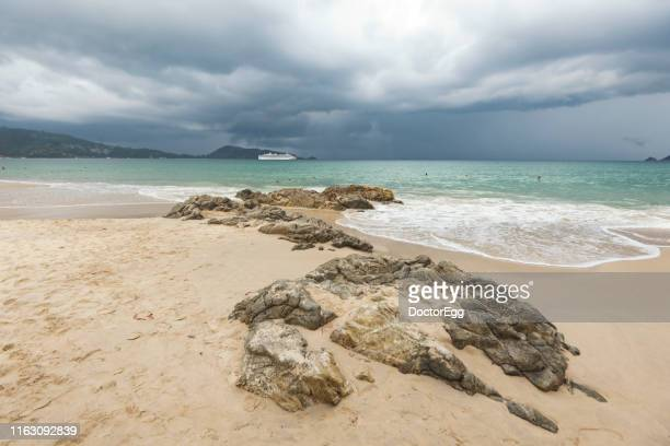Kalim Beach in  Rainy Season, Patong, Phuket, Thailand
