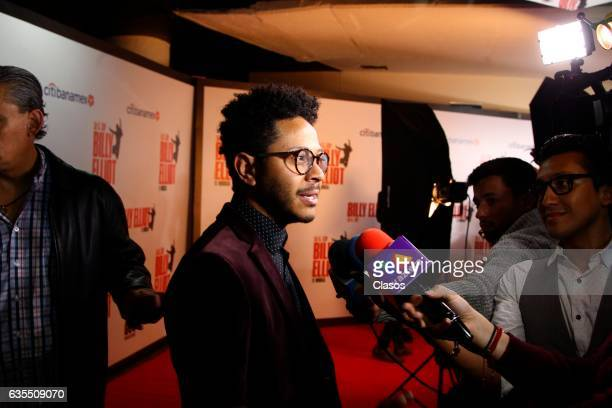 Kalimba poses for the camera during the opening night of Billy Elliot Music Show on February 15 2017 in Mexico City Mexico