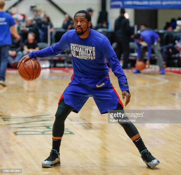 Kalin Lucas of the Grand Rapids Drive warms up before an NBA GLeague game against the Westchester Knicks on February 1 2019 at DeltaPlex Arena in...