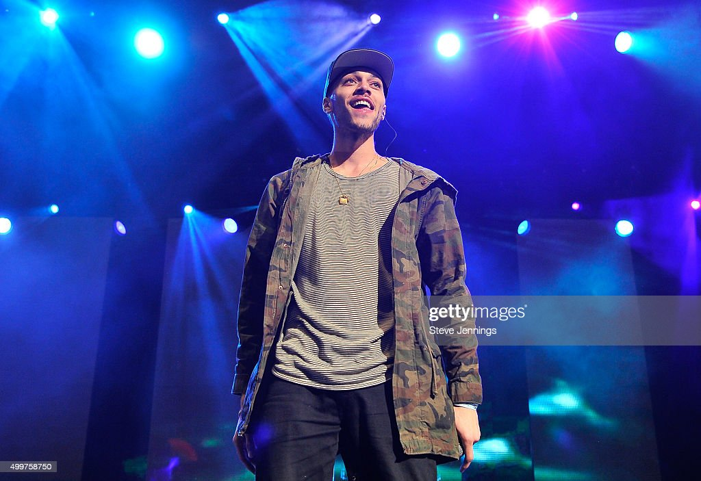 Kalin White of Kalin and Myles performs at the 99.7 WOW! Triple Ho show at SAP Center on December 2, 2015 in San Jose, California.