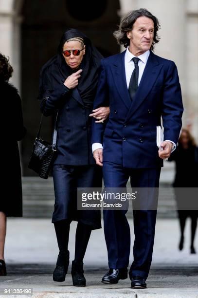 Kalina de Bulgaria and Kitin Munoz attend 25th Anniversary of King Juan Carlos' Father's Death at Monasterio de San Lorenzo de El Escorial on April 3...
