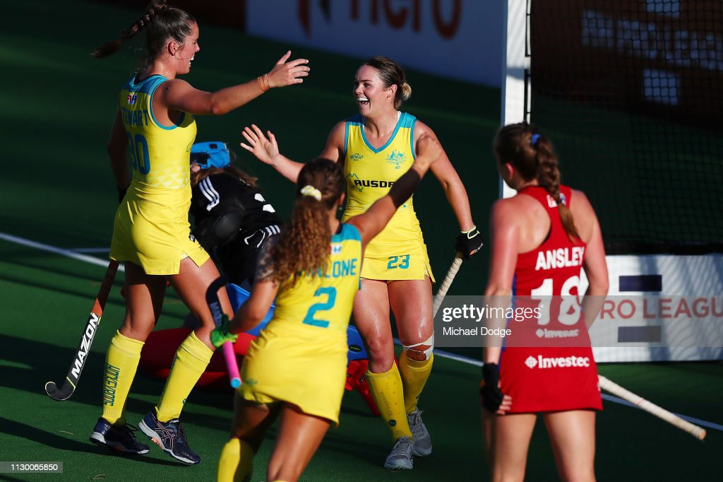AUS: Australia v Great Britain - Women's FIH Field Hockey Pro League