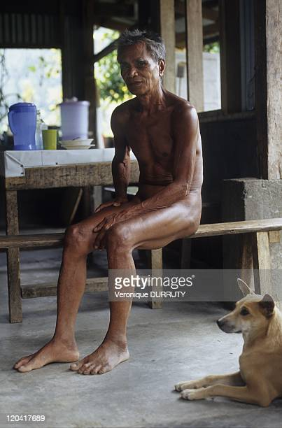Kalinga ' Head hunters tribe' old man in Luzon island Philippines