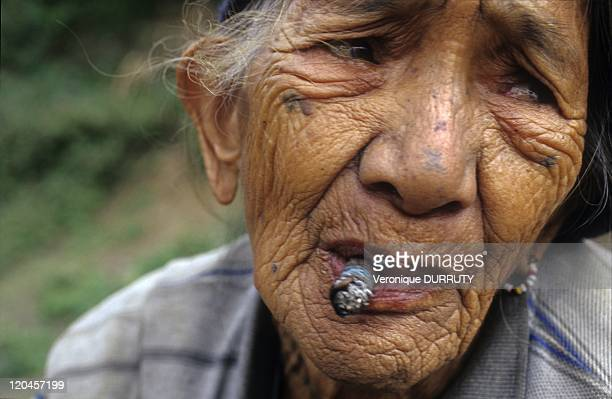 Kalinga Head hunters tribe old woman in North Luzon Philippines