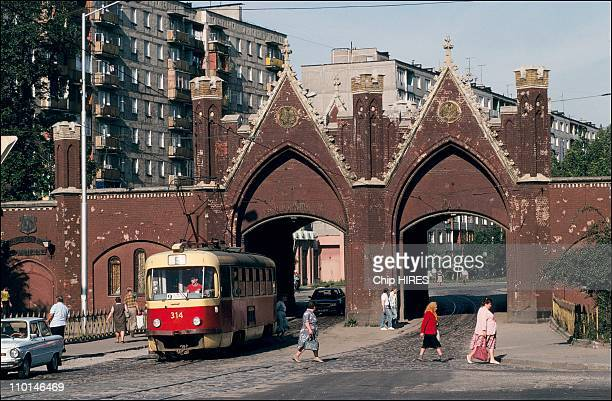 Kaliningrad between Poland and Lithuania in Russia in September 1991 Brandenburg gate
