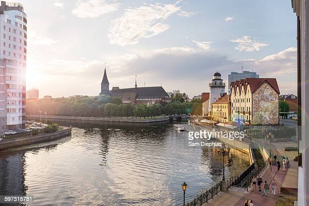 kaliningrad cityscape and waterfront, kaliningrad, russia - kaliningrad stock pictures, royalty-free photos & images