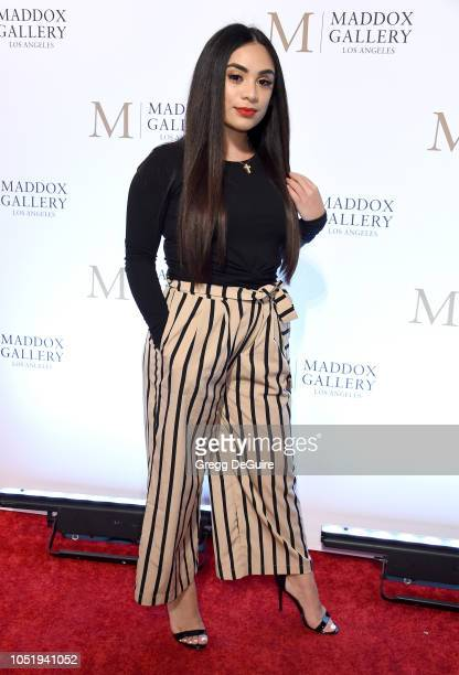 Kalisha Perera attends the VIP Opening of Maddox Gallery Exhibition Best Of British at Maddox Gallery on October 11 2018 in Los Angeles California
