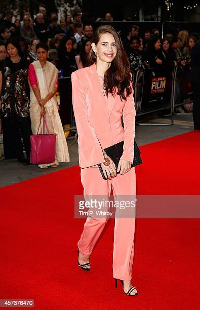 Kalki Koechlin attends the red carpet arrivals of 'Margarita With A Straw' during the 58th BFI London Film Festival at Vue Leicester Square on...