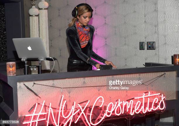 Kalkutta at the NYX Professional Makeup and Samsung VR Launch Party at Beauty Essex on December 14 2017 in Los Angeles California