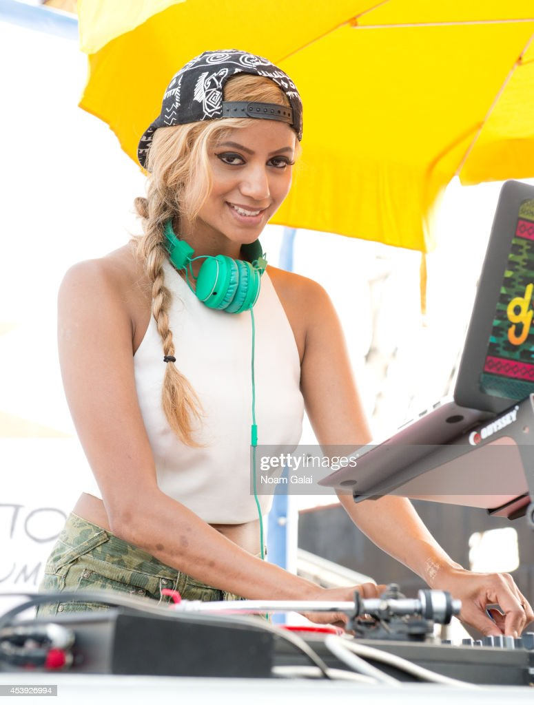 DJ Kalkutta performs at The Summer Of Jeep at South Street Seaport on August 21, 2014 in New York City.