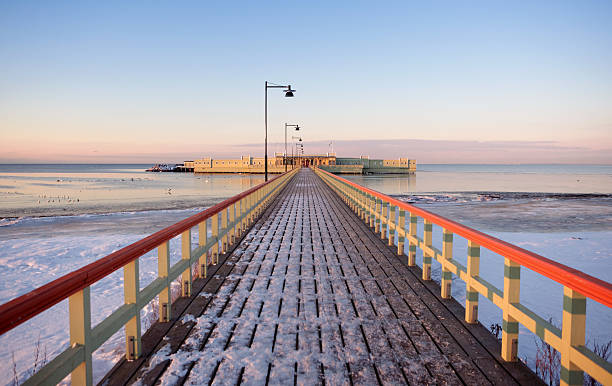 Kallbadhuset Pier At Dusk Wall Art