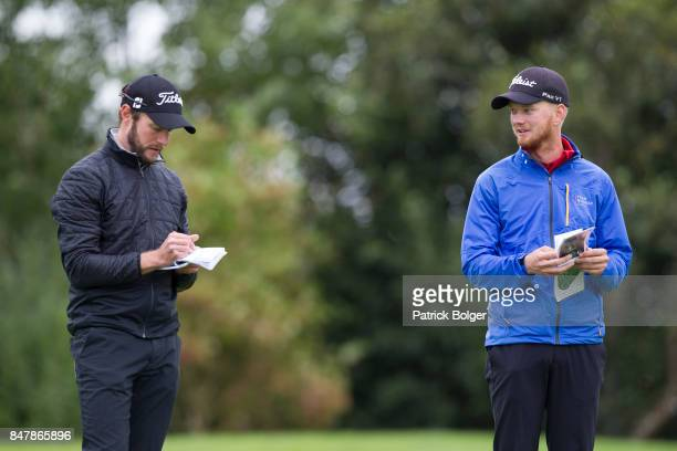 Kalle Samooja from Finland and Jarand Ekeland Arnoy from Norway during the third round of the 2017 Irish Challenge at Mount Wolseley Hotel Spa and...