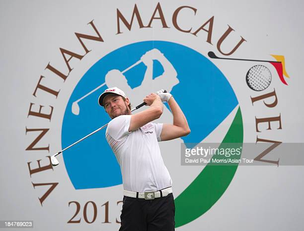 Kalle Samooja of Finland during the ProAm round of the Venetian Macau Open on October 16 2013 at the Macau Golf Country Club in Macau The Asian Tour...