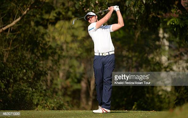 Kalle Samooja of Finland in action during round four of the Asian Tour Qualifying School presented by Sports Authority of Thailand at the Springfield...
