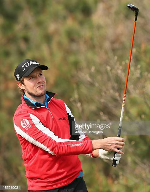 Kalle Samooja of Finland in action during the completion of the first round of the Ballantine's Championship at Blackstone Golf Club on April 26 2013...