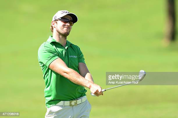 Kalle Samooja of Finland pictured during the final round of the Asian Tour's US$750000 CIMB NIAGA Indonesia Masters at Royale Jakarta Golf Club on...