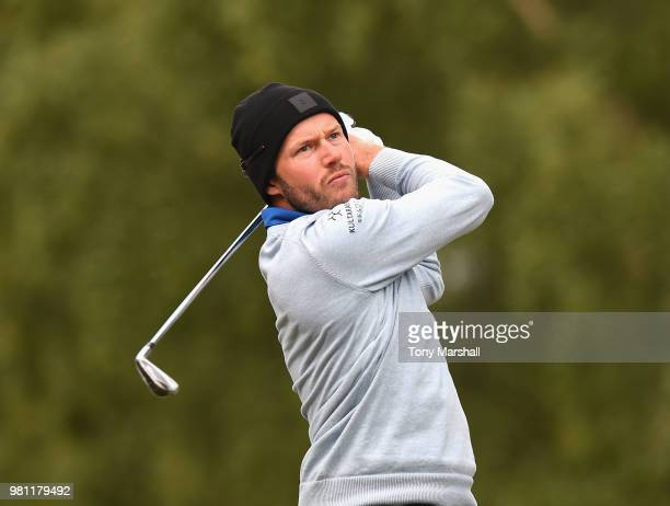 Kalle Samooja of Finland plays his first shot on the 2nd tee during Day Two of the SSE Scottish Hydro Challenge hosted by Macdonald Hotels and...
