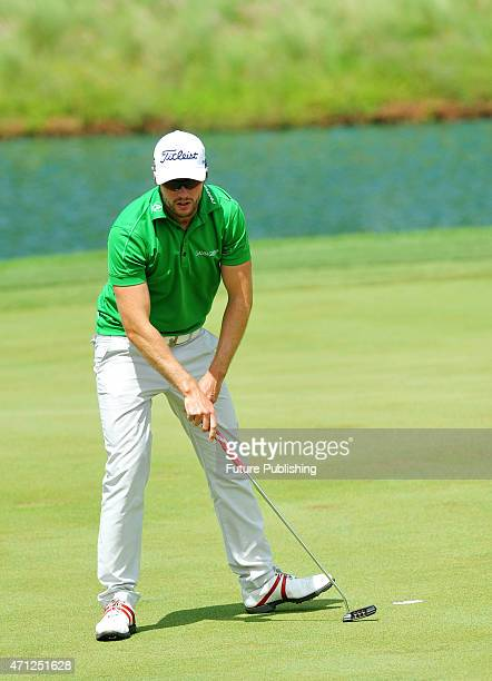 Kalle Samooja of Finland seen in action during the Final Day of the CIMB Niaga Indonesian Masters golf tournament at Royale Jakarta Golf Club on...