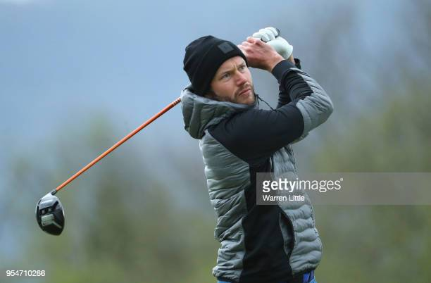 Kalle Samooja of Finland tees off on the 16th hole during the second round of the Challenge de Espana on the Izki Golf Club on May 4 2018 in Alava...